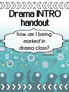 Drama - The First Day - How am I being marked in drama? Handout