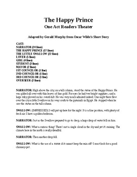 Drama - The Happy Prince - Readers Theater