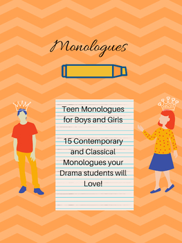 Drama Theatre Arts Monologues
