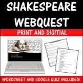 Drama Theatre Arts Shakespeare Webquest