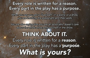 Drama/Theatre Class Poster - Every Role is Written for a Reason