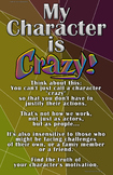 """Drama/Theatre Class Poster - """"My Character is Crazy?"""""""