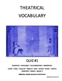 Drama & Theatre Vocabulary Worksheet and Quiz
