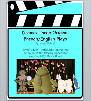 Drama: Three Original French/English Plays - Scripts to Pe
