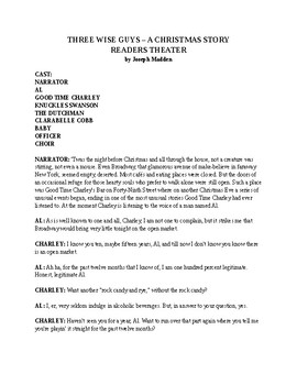 Drama - Three Wise Guys - A Christmas Play