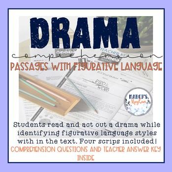 Drama UNIT using Figurative Language and Comprehension Questions Bundle