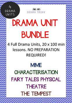 Drama Unit Bundle 1 - 4 drama units (20 x 100 min lessons)