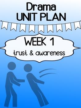 "Drama - Unit Plan - First week ""Trust and Awareness"""