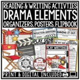 Elements of Drama Unit -Anchor Charts, Graphic Organizers, & More