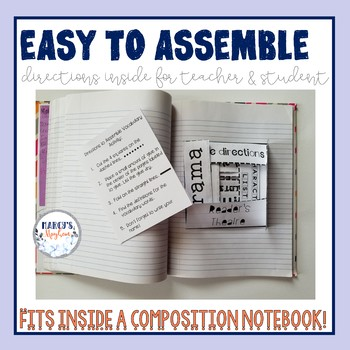 Drama Vocabulary - Activity (Foldable) for Composition Notebook