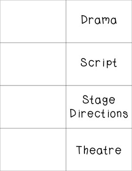 Drama Vocabulary Foldable with KEY
