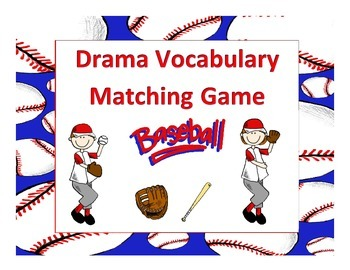 Drama Vocabulary Matching