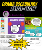 Drama Vocabulary Mini-Unit - Presentation, Worksheet, and Quizzes