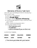Drama Vocabulary Task Card