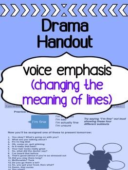 Drama - Voice Emphasis