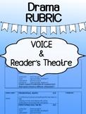 Drama - Voice and Reader's Theatre-  RUBRIC