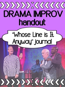 Drama - Whose Line Is It Anyways? - Improv Journal