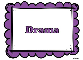 Word Wall Words for Drama