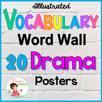 Drama Word Wall Vocabulary Posters