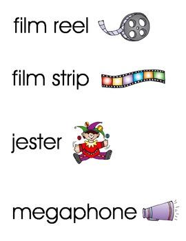 Drama Word Wall/Vocabulary Cards