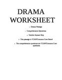 Drama Worksheet