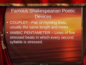 Drama and Literary Terms for Shakespeare