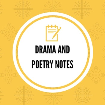 Drama and Poetry PowerPoint Notes -- Common Core Aligned