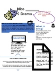 Drama class expectations
