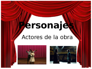 Drama elements powerpoint (Spanish)/ Elementos de drama