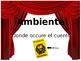Drama elements powerpoint (Spanish)/ Elementos de drama