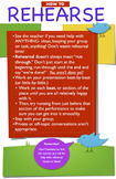 Drama or Theatre Class Poster - Rehearsal Guidelines