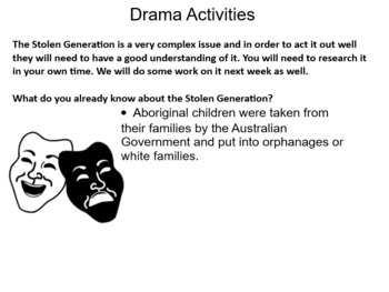 Drama unit- The Stolen Generation