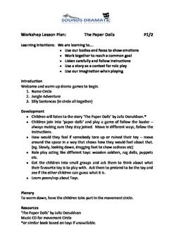 Drama workshop lesson plans - Toys