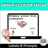 Dramatic Centre: Ice Cream Parlour Labels/Prompts