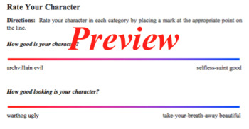 Dramatic Character Analysis and Development, Set Two