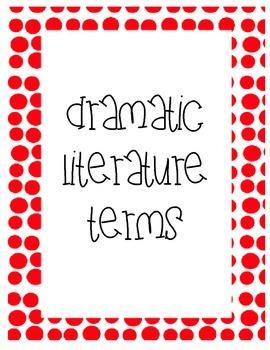 Dramatic LIteratuare Terms