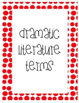Dramatic LIteratuare Terms