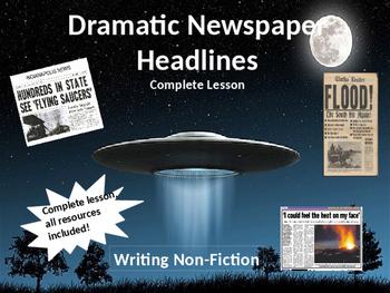 Dramatic Newspaper Headlines Writing Lesson