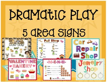 Dramatic Play - 5 Area Signs
