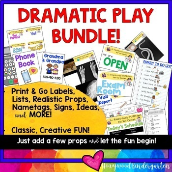 Dramatic Play BUNDLE! Home, Cookie Shop, Vet Clinic, Post Office, Fitness, more!