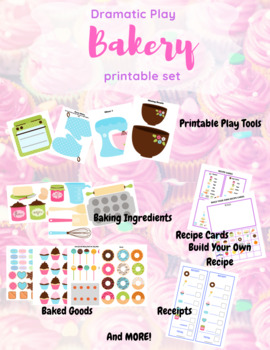 Dramatic Play Bakery Set For Pretend Play In Class Or Homeschool!