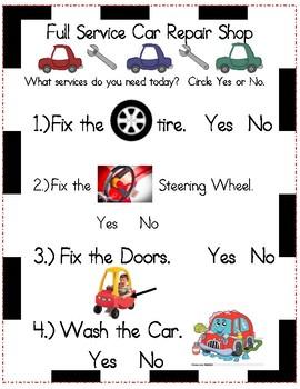 Dramatic Play - Car Repair Shop