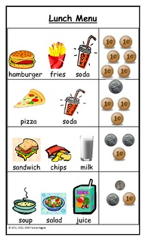 Dramatic Play Center Menus and Ordering Pads