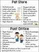 Dramatic Play Center Quick Set-up Cards