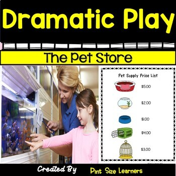 The Pet Store Dramatic Play Center | Vocabulary | Printables  Props & Activities