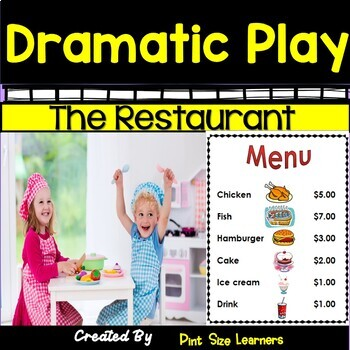 Dramatic Play Center Ideas and Activities  The Restaurant