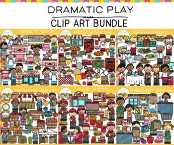 Dramatic Play Clip Art Bundle {Food Clip Art}