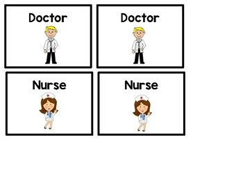 Dramatic Play - Doctor and Nurse badges