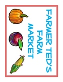 Dramatic Play - Farmer's Market Set for PreK or Kindergarten