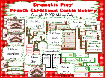 Dramatic Play: French Christmas Cookie Bakery